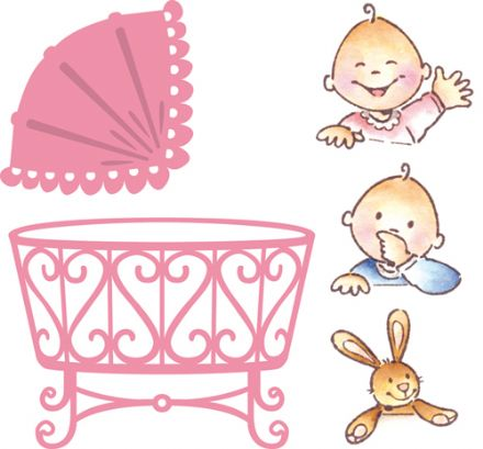COL1313~ ELINE'S BABY~ Marianne Design Collectables